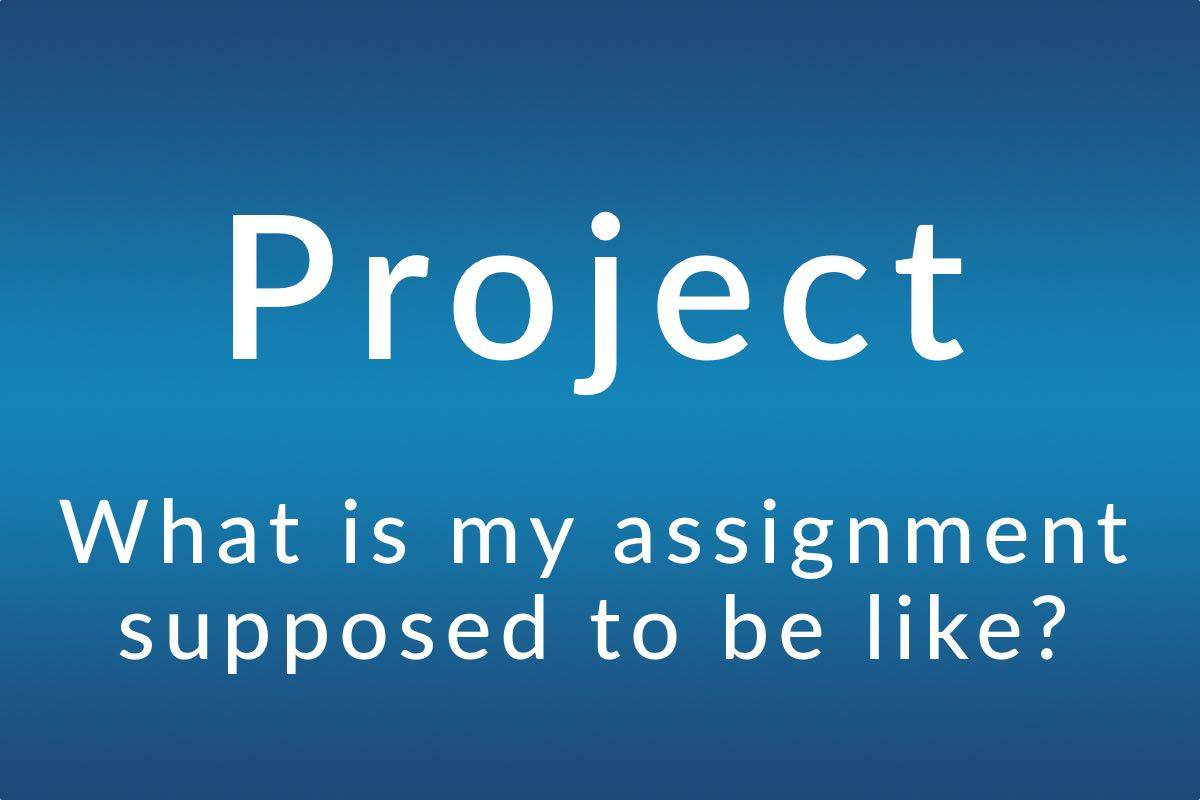 Project: What is my assignment supposed to be like?